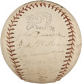 Autographs:Baseballs, 1939 Boston Red Sox Team Signed Baseball with Ted Williams, DatedFebruary 17th, 1939!...