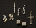 Estate Jewelry:Other , . Six Diamond & Gold Pendants & One Diamond Earrings. ...(Total: 7 Items)