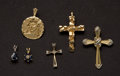 Estate Jewelry:Pendants and Lockets, Six Gold Pendants. ... (Total: 6 Items)