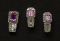 Estate Jewelry:Other , Pink Tourmaline & Gold Earrings & Pendant. ... (Total: 2Items)