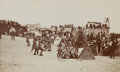 "American Indian Art:Photographs, BEN WITTICK PHOTOGRAPH OF ""SNAKE DANCE AT ORAIBI, MOQUI INDIANVILLAGE, ARIZONA"". c. 1898..."