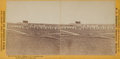 "American Indian Art:Photographs, STANLEY J. MORROW STEREOVIEW OF ""FORT RICE, DAKOTA. GOV'T. CEMETERYAND INDIAN GRAVE IN FOREGROUND"" and BAKER AND JOHNSTON BOU...(Total: 2 Items)"