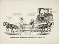 Political:Small Paper (pre-1896), Abraham Lincoln: Classic Currier & Ives Cartoon....