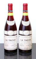 Red Burgundy, La Tache 1980 . Domaine de la Romanee Conti . 2bsl, #003301,003320. Bottle (2). ... (Total: 2 Btls. )