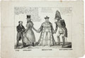 Political:Small Paper (pre-1896), Andrew Jackson: 1836 Cartoon....