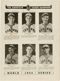 Autographs:Others, 1944 St. Louis Browns Team Signed World Series Program....