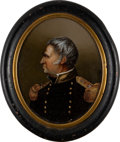 Political:Small Miscellaneous (pre-1896), Zachary Taylor: Miniature Reverse Painting....