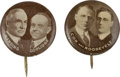 """Political:Pinback Buttons (1896-present), Cox & Roosevelt and Harding & Coolidge Jugates: A Marvelousand Rare Matched Pair of 5/8"""" Pinbacks.... (Total: 1 Pair)"""