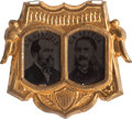 Political:Ferrotypes / Photo Badges (pre-1896), Garfield & Arthur: Elusive Ferrotype Jugate....