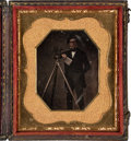 Photography:Daguerreotypes, Early Photography: Occupational Daguerreotype of a Surveyor....