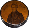 Political:3D & Other Display (pre-1896), Andrew Jackson: Elegant Snuff Box....