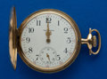 Timepieces:Pocket (post 1900), Waltham 17 Jewel 14k Gold 16 Hunter's Case Size Pocket Watch. ...