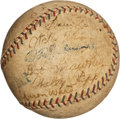 Autographs:Baseballs, 1923 New York Yankees Team Signed Baseball....