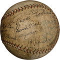 Autographs:Baseballs, 1927 Washington Senators Team Signed Baseball....