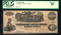Confederate Notes:1862 Issues, Fully Framed T39 $100 1862.. ...