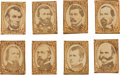 Political:Ferrotypes / Photo Badges (pre-1896), Abraham Lincoln: The President and His Generals.... (Total: 8Items)