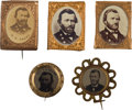 Political:Ferrotypes / Photo Badges (pre-1896), Ulysses S. Grant: Five Campaign Badges.... (Total: 5 Items)