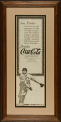 Baseball Collectibles:Others, Circa 1915 Joe Tinker Coca-Cola Magazine Advertisement. ...