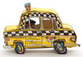 Sculpture, RED GROOMS (American, b. 1937). Ruckus Taxi, 1986. Taxicab in plexiglass case accompanied by three color lithographs (an... (Total: 2 Items)