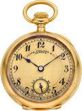 Timepieces:Pocket (post 1900), Patek Philippe & Co. Lady's Gold Pendant Watch, circa 1909. ...