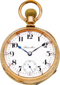 Timepieces:Pocket (post 1900), Hamilton 23 Jewel Marked Grade 946, circa 1906. ...