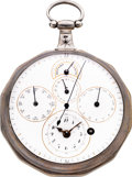 Timepieces:Pocket (pre 1900) , Daniel Henry Nicolet Unusual Astronomic Calendar Fusee With LeverConversion, circa 1810. ...