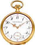 Timepieces:Pocket (post 1900), Patek Philippe & Co. Gold Pocket Watch, circa 1912. ...