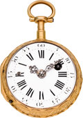 Timepieces:Pocket (pre 1900) , Le Roy Paris Fine Gold Quarter Hour Dumb Repeater, circa 1780. ...