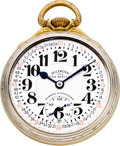Timepieces:Pocket (post 1900), Illinois 23 Jewel 163A Elinvar Sixty Hour Bunn Special With Rare Montgomery Dial, circa 1931. ...