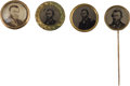 Political:Ferrotypes / Photo Badges (pre-1896), Ulysses S. Grant: Four Campaign Badges.... (Total: 4 Items)