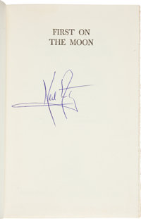 Neil Armstrong Signed Book: First on the Moon