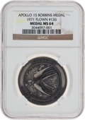 Transportation:Space Exploration, Apollo 15 Flown MS64 NGC Silver Robbins Medallion, Serial Number126. ...