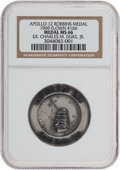 Transportation:Space Exploration, Apollo 12 Flown MS66 NGC Silver Robbins Medallion Originally fromthe Personal Collection of Astronaut Charlie Duke, Serial Nu...