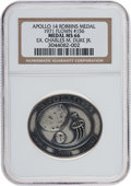 Transportation:Space Exploration, Apollo 14 Flown MS66 NGC Silver Robbins Medallion Originally fromthe Personal Collection of Astronaut Charlie Duke, Serial Nu...