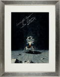 Transportation:Space Exploration, Apollo 17: Original Ken Lewis Hand-Painted LM Illustration Signed by Mission Commander Gene Cernan. ...