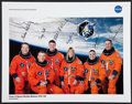 Autographs:Celebrities, Space Shuttle Endeavour (STS-130) Crew-Signed Color Photo....
