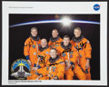 Autographs:Celebrities, Space Shuttle Atlantis (STS-132) Crew-Signed Color Photo....