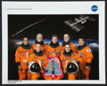 Autographs:Celebrities, Space Shuttle Discovery (STS-119) Crew-Signed Color Photo....
