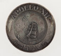 Transportation:Space Exploration, Apollo 12 Flown Silver Robbins Medallion Originally from thePersonal Collection of Mission Lunar Module Pilot Alan Bean,Seri...