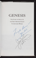 Autographs:Celebrities, Genesis: The Story of Apollo 8 Book Signed by MissionCommander Frank Borman and Command Module Pilot James Lovell. ...