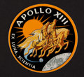 Transportation:Space Exploration, Jack Swigert Signed Apollo 13 Mission Insignia Decal....