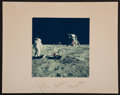 Transportation:Space Exploration, Apollo 11 Color Photo on a Crew-Signed Mat. ...