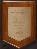 Transportation:Space Exploration, Ed White II: Air Force Aerospace Primus Club Plaque from His Personal Collection....