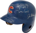 Baseball Collectibles:Hats, Chicago Cubs Greats Game Worn, Signed 1970's Helmet....