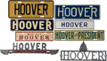 Political:3D & Other Display (1896-present), Herbert Hoover: Eight License Plates.... (Total: 7 Items)