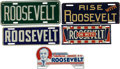 Political:3D & Other Display (1896-present), Franklin D. Roosevelt: Five Scarce License Plates.... (Total: 5 Items)