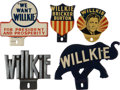 Political:3D & Other Display (1896-present), Wendell Willkie: Five License Attachments.... (Total: 5 Items)