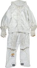 Transportation:Space Exploration, Early Apollo Prototype A-4H Spacesuit Extra-Vehicular Thermal Garment with Gloves and Overboots by International Latex.... (Total: 6 Items)