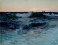 Fine Art - Painting, American:Modern  (1900 1949)  , LIONEL WALDEN (American, 1861-1933). Rough Waters. Oil on canvas. 37 x 47 inches (94.0 x 119.4 cm). Signed lower left: ...