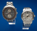 Timepieces:Wristwatch, Seiko Tachymeter & Tiffany & Co. Chronograph WristwatchesRunners. ... (Total: 2 Items)
